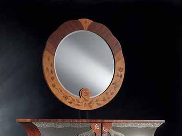 Round framed mirror PALISSANDRO | Mirror - Carpanelli Classic
