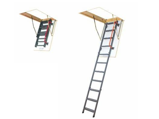 Loft ladder with metal handrail LWM-K - FAKRO