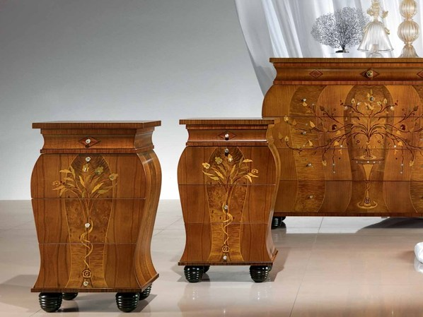 Cherry wood bedside table with drawers REGALE | Bedside table - Carpanelli Classic