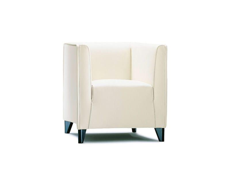 Upholstered armchair with armrests QUADRA | Armchair - Wittmann