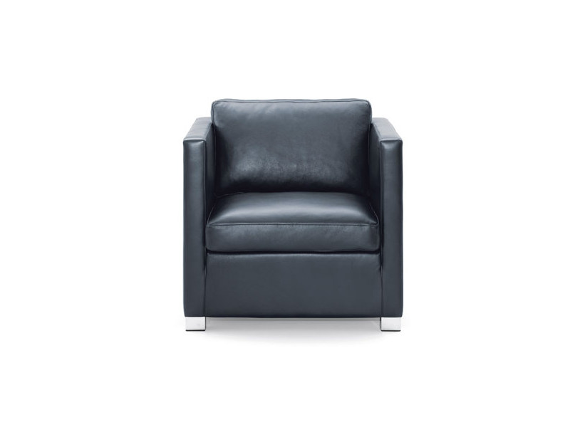 Upholstered leather armchair METRO | Armchair - Wittmann