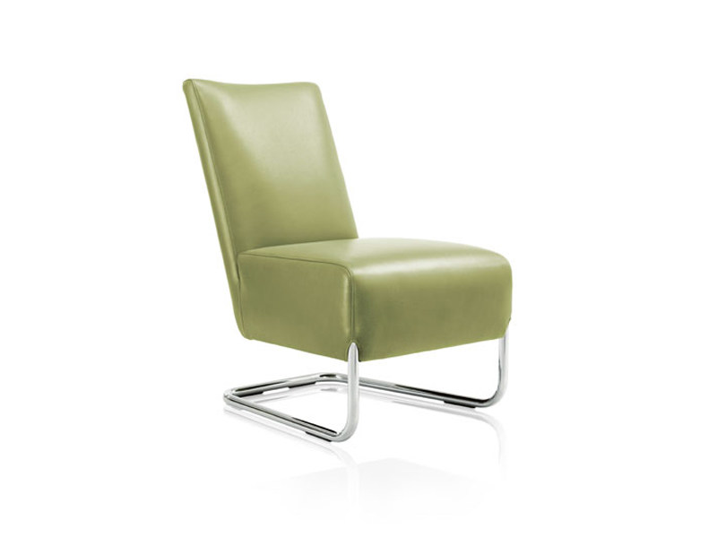 Cantilever leather armchair JACK - Wittmann