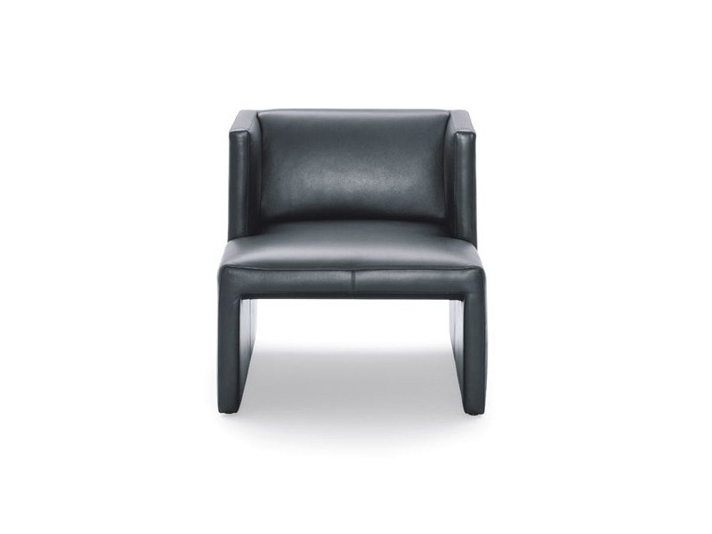 Upholstered leather armchair CORSO | Armchair by Wittmann