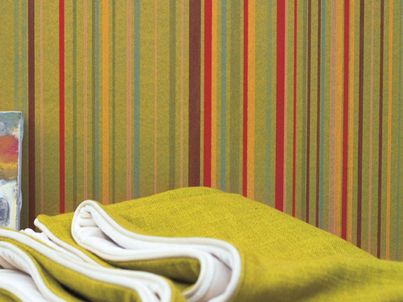 papier peint rayures en tissu synth tique rayures by elitis. Black Bedroom Furniture Sets. Home Design Ideas