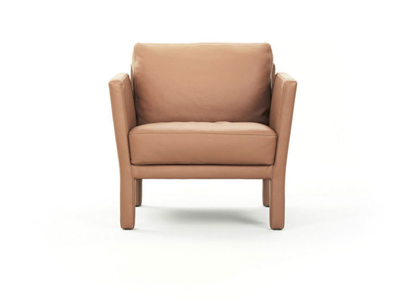 Upholstered leather armchair ELLA | Armchair - Wittmann