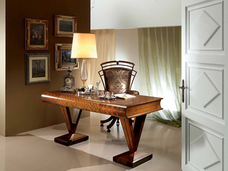 Wooden writing desk with drawers LIBRO | Writing desk by Carpanelli Classic