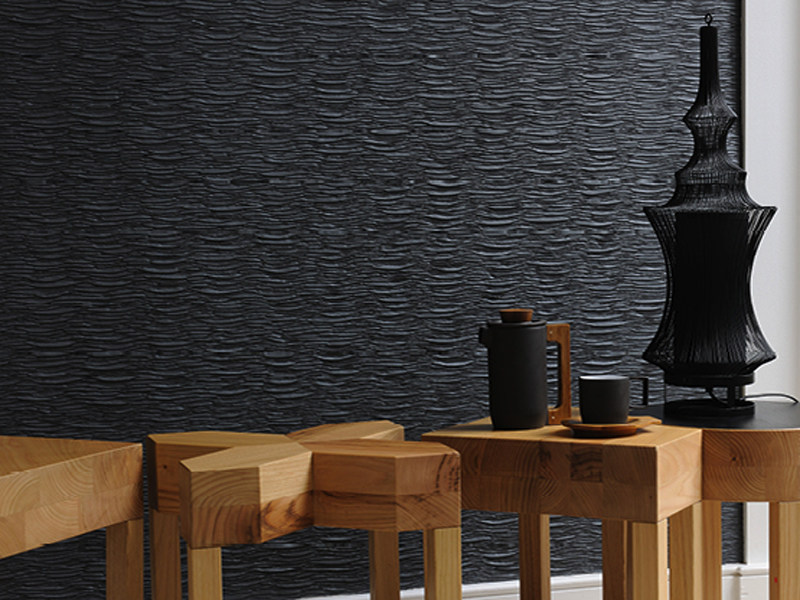 Indoor paper yarn wall tiles SHIBUYA - Élitis