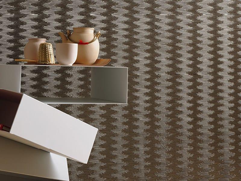 Paper yarn wall tiles GINZA by Élitis