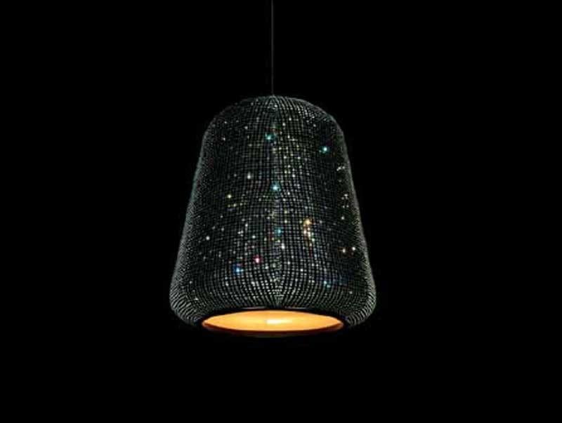 Direct-indirect light crystal pendant lamp SPARKLE SHADY SHAPE 04 - Swarovski