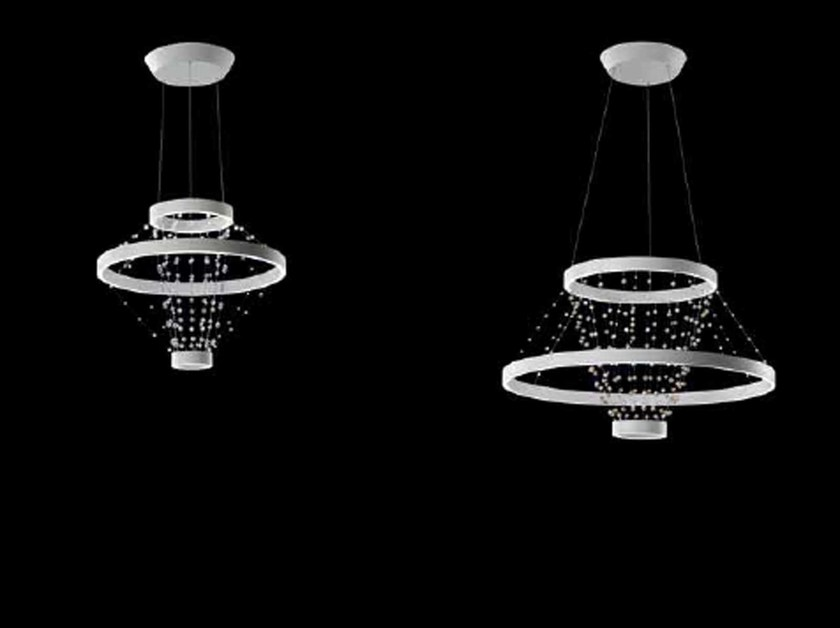 LED direct-indirect light crystal pendant lamp STRANDELIER   Pendant lamp - Swarovski