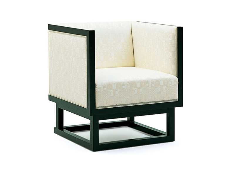 Upholstered armchair with armrests CABINETT | Armchair by Wittmann