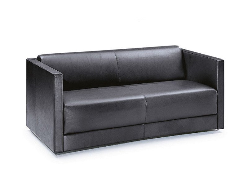 Leather sofa bed CUBICA DENISE - Wittmann