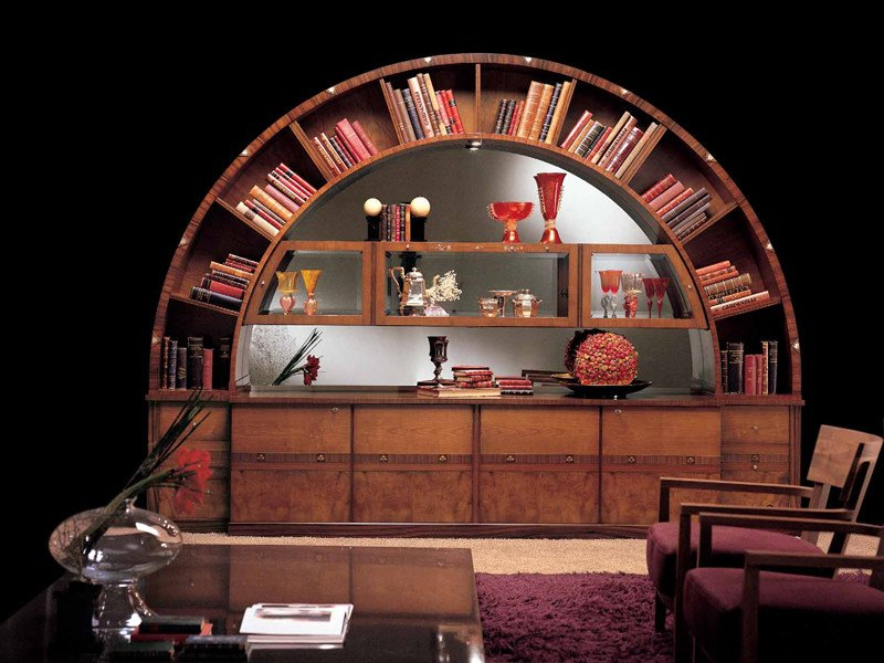 Bookcase Display cabinet ARCO by Carpanelli Classic