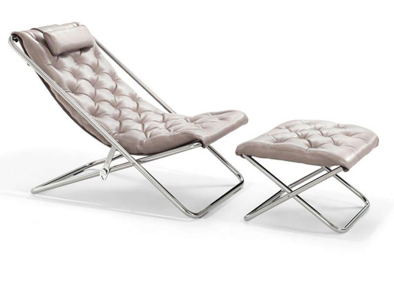 Folding armchair with footstool LESTER | Armchair - Wittmann