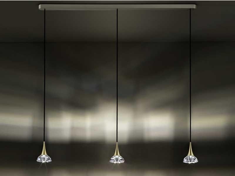 Halogen crystal pendant lamp SINAR 100 mm Pendant - Swarovski