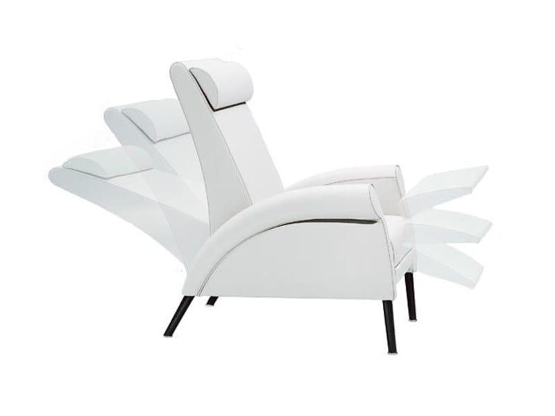 Recliner armchair with footstool TESSA by Wittmann