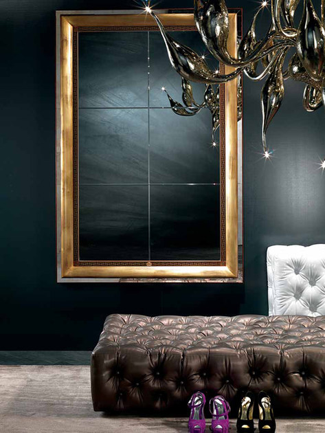 Wall-mounted framed mirror DALÌ | Mirror by Carpanelli Classic