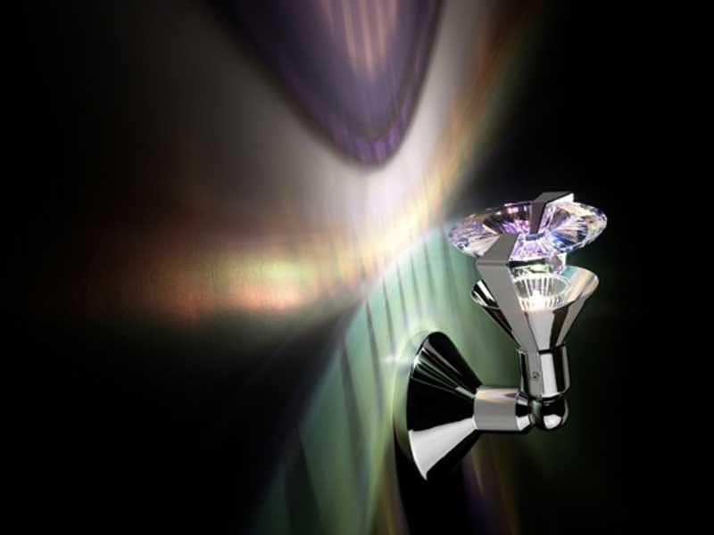 Halogen adjustable crystal wall light ATLAS SELECT CRYSTAL AB WALL LUMINAIRE - Swarovski