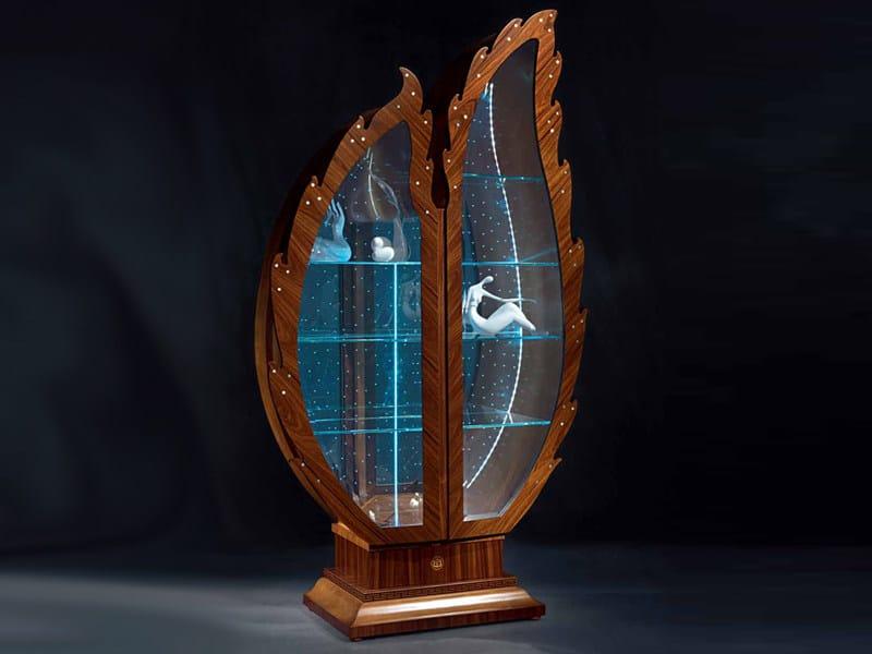 Crystal display cabinet DUE FOGLIE POIS - Carpanelli Classic