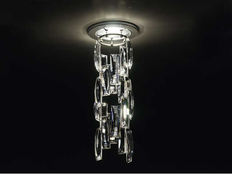 Halogen crystal ceiling lamp TURNS - Swarovski