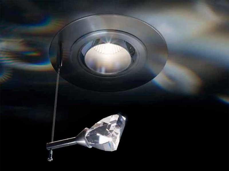 Halogen recessed crystal spotlight FLAME - Swarovski