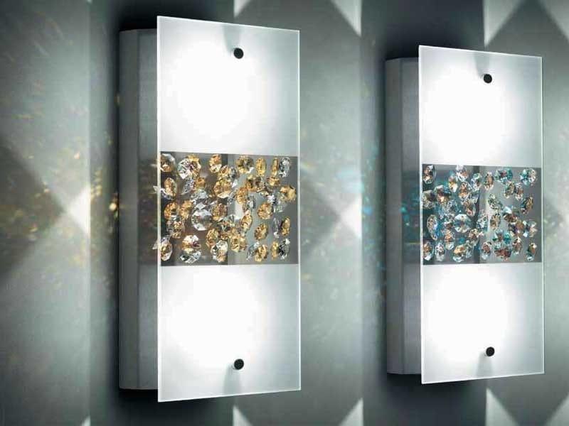 Low voltage halogen crystal wall light SPLENDID - Swarovski