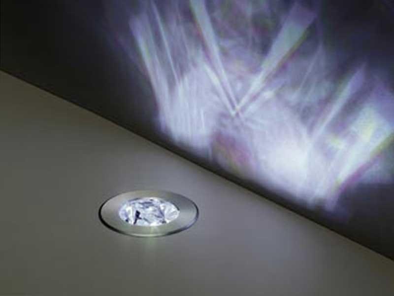 Faretto a LED da incasso per pavimento SWING by Swarovski