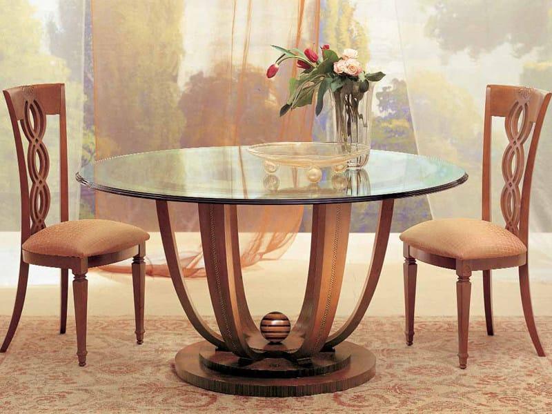 Round crystal table PRIMAVERA - Carpanelli Classic