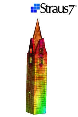 Masonry and mixed construction calculation Straus7 - MODULO SOLUTORI NON LINEARI - HSH