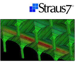 Calculation of composite structure and FRP reinforcement Straus7 - MODELLAZIONE DI MATERIALI COMPOSITI - HSH