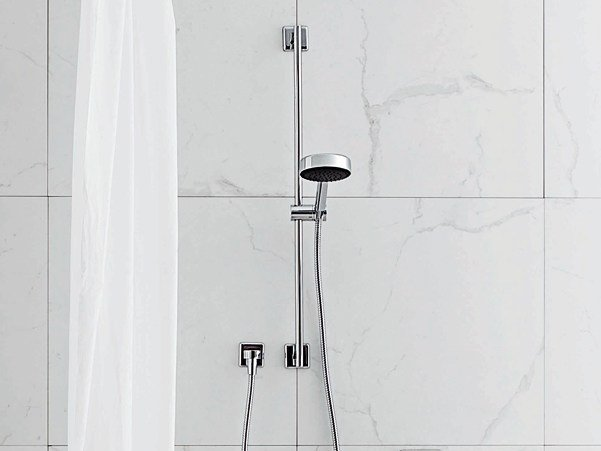 Shower wallbar with hand shower with mixer tap FARAWAY | Shower wallbar by ZUCCHETTI