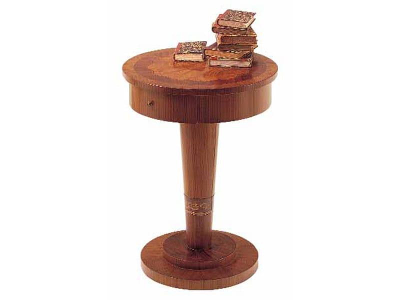 Round zebrano bedside table ZEBRANO   Bedside table - Carpanelli Classic