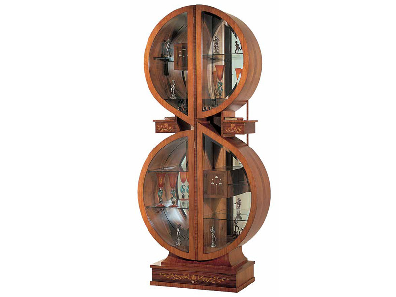 Cherry wood display cabinet CHIAVE DI VIOLINO - Carpanelli Classic
