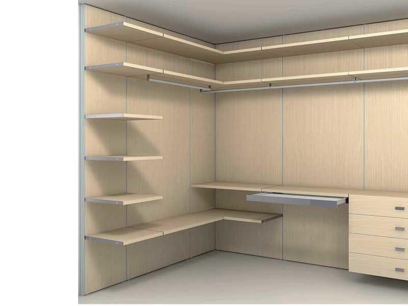 Cabina armadio componibile su misura store cabina for Armadio mansarda ikea