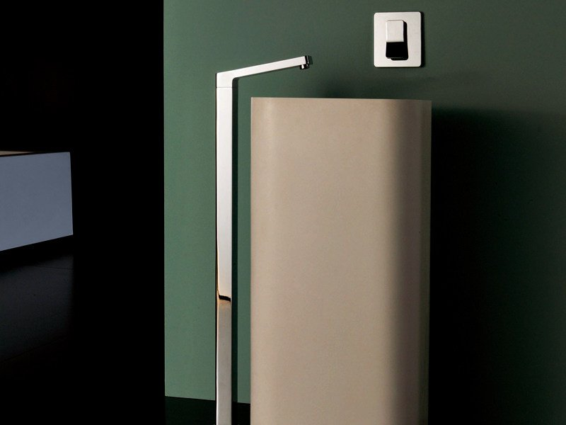 Chrome-plated sink spout SOFT | Floor standing sink spout by ZUCCHETTI