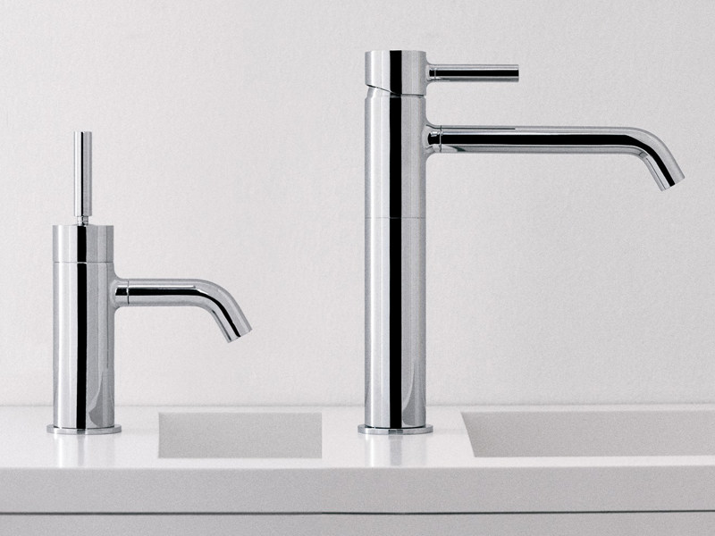 Chrome-plated 1 hole washbasin mixer PAN | Chrome-plated washbasin mixer - ZUCCHETTI