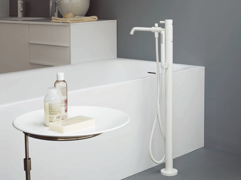 Floor standing bathtub mixer with hand shower PAN | Floor standing bathtub mixer by ZUCCHETTI
