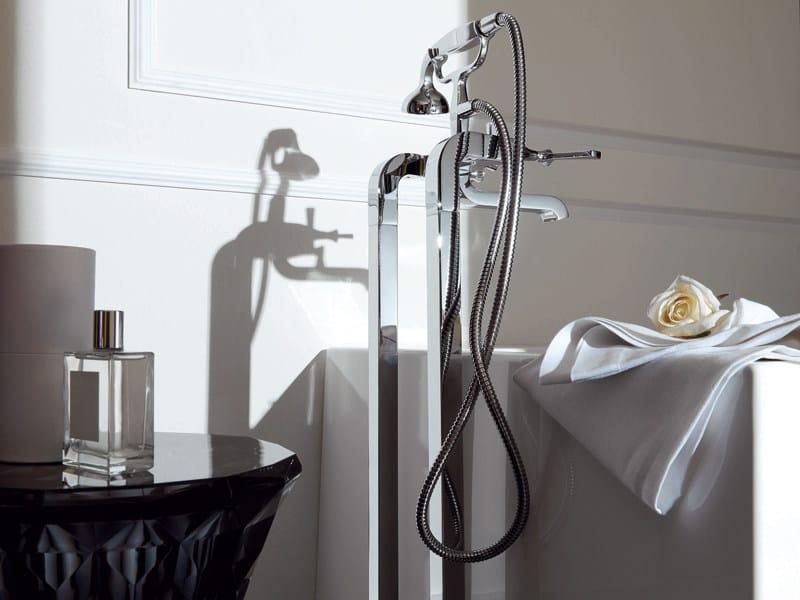Floor standing bathtub mixer with hand shower BELLAGIO | Floor standing bathtub mixer - ZUCCHETTI