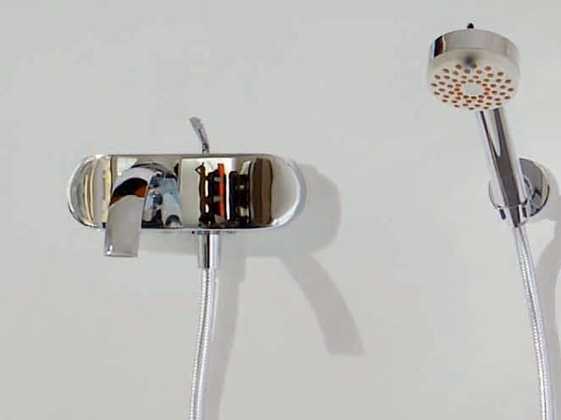 Wall-mounted bathtub mixer with hand shower ISYFRESH | Bathtub mixer - ZUCCHETTI