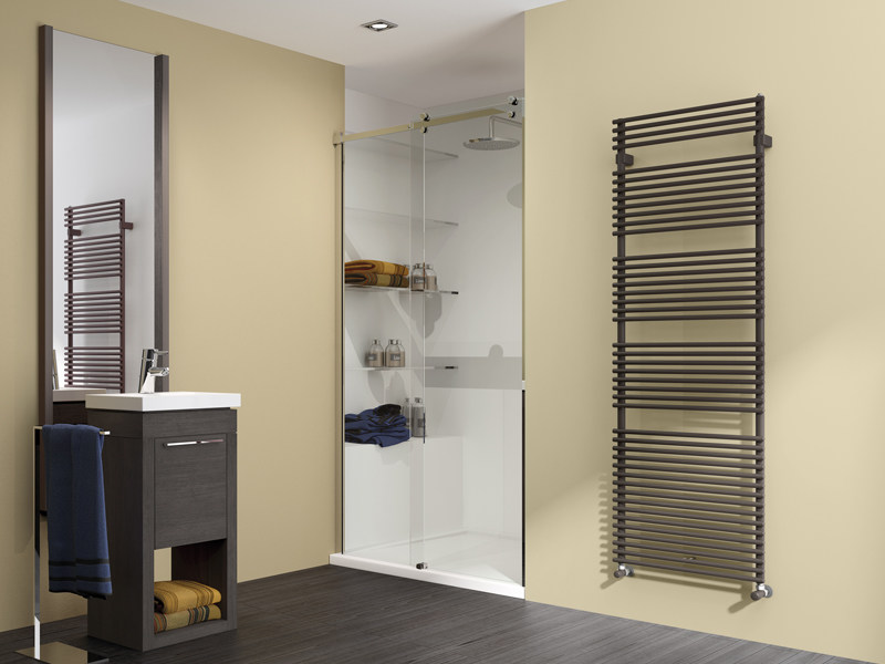 Wall-mounted steel towel warmer FLAUTO | Radiator - IRSAP