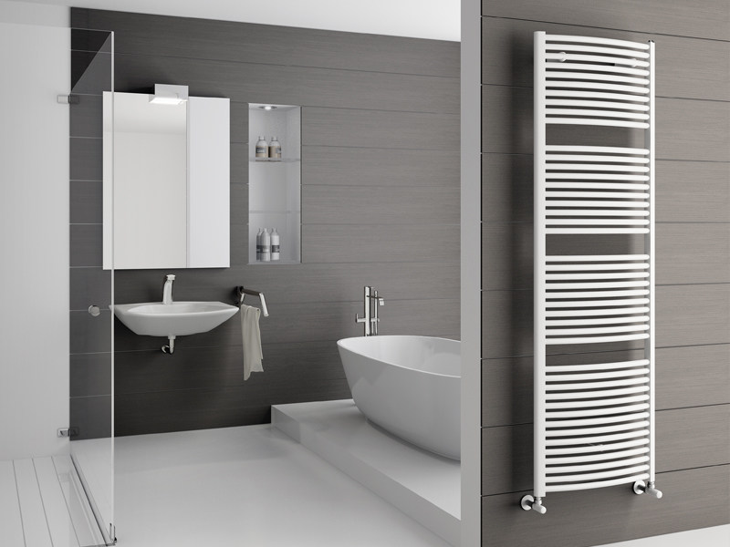 Wall-mounted steel towel warmer ONDA - IRSAP