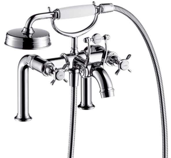 2 hole bathtub tap with hand shower AXOR MONTREUX | Bathtub tap - HANSGROHE