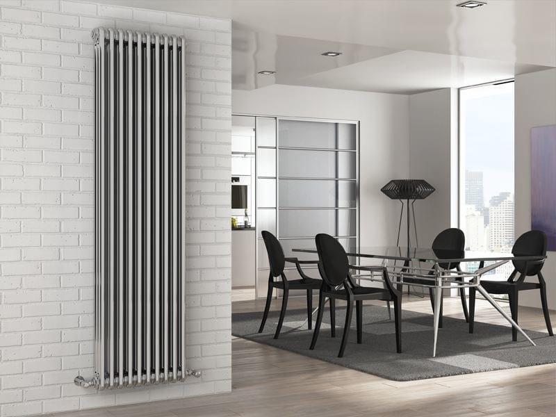 Termoarredo cromato in acciaio a parete tesi cromato irsap for Copri muro esterno prezzi