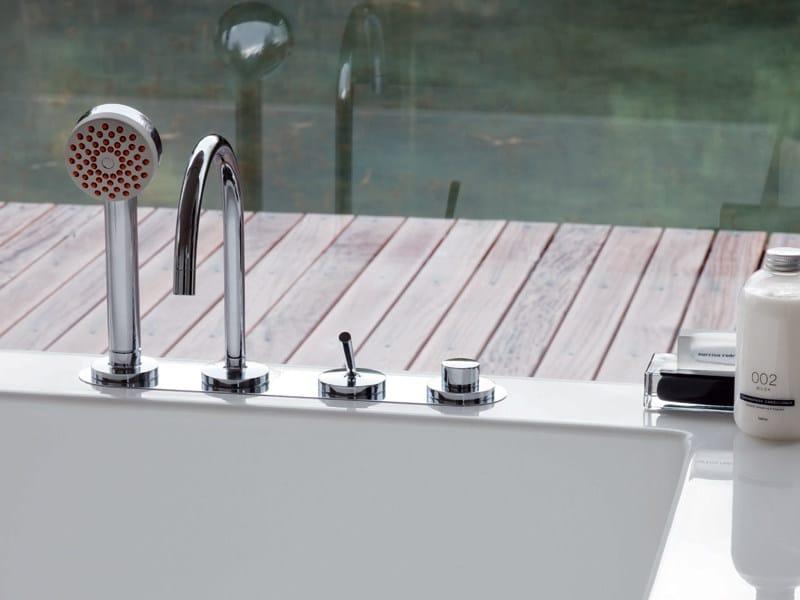 4 hole bathtub set with hand shower ISYSTICK | Bathtub set - ZUCCHETTI