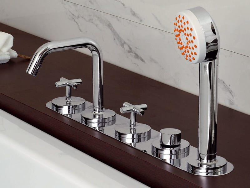 5 hole bathtub set with hand shower ISYARC | Bathtub set - ZUCCHETTI