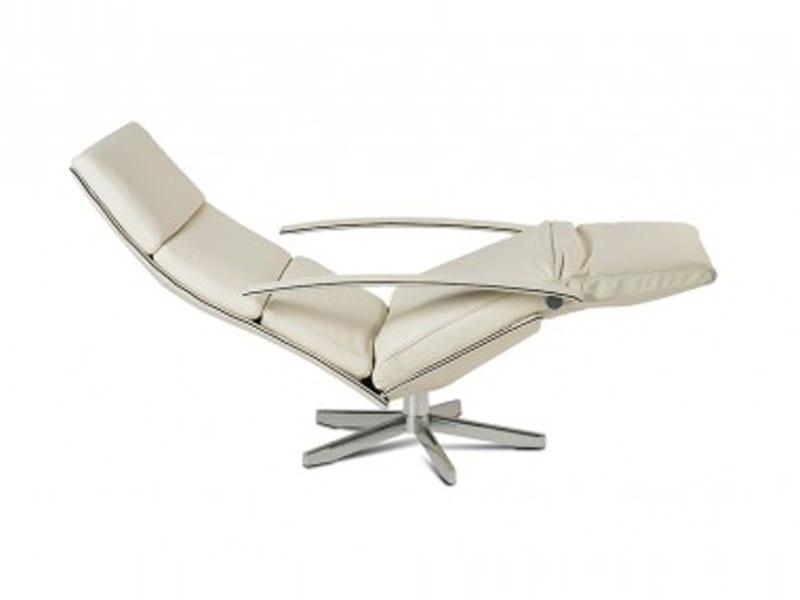 Poltrona reclinabile in acciaio con poggiatesta and for Poltrona reclinabile