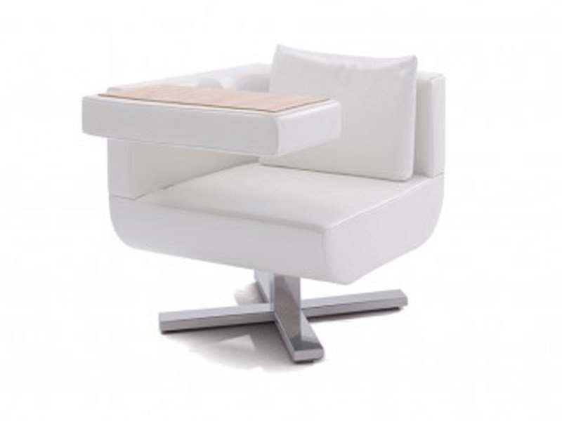 Swivel upholstered armchair with armrests CHILLAP - Jori