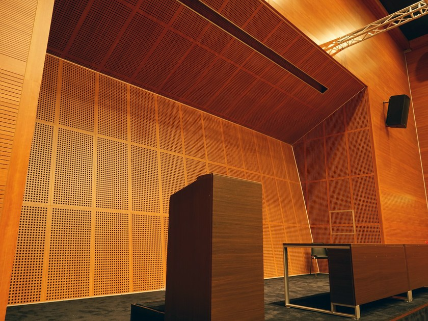 Sound absorbing fireproof MDF wall tiles SOUNDLESS | Wall tiles - ITP