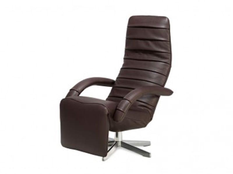 Upholstered recliner armchair with motorised functions FARFALLA - Jori