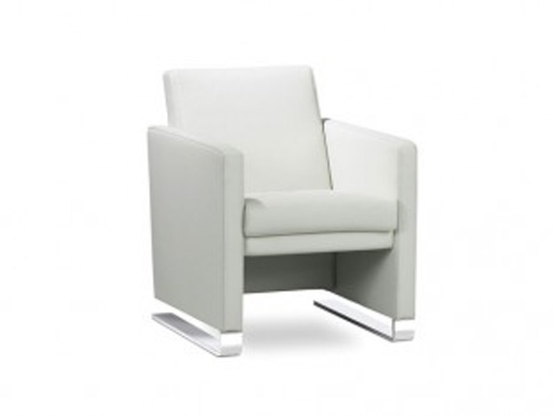 Upholstered beech armchair with armrests NAVY | Armchair - Jori